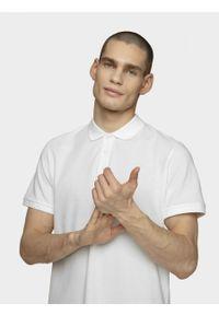 Biała koszulka polo outhorn z krótkim rękawem, polo