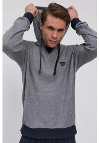 Emporio Armani Underwear - Bluza piżamowa. Kolor: szary. Długość: długie