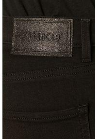 Czarne jeansy bootcut Pinko