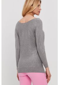 Szary sweter Guess długi, z długim rękawem