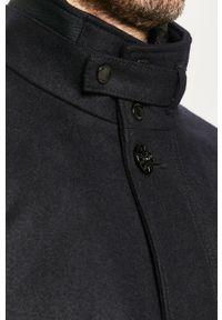 Niebieski płaszcz Strellson na co dzień, casualowy, bez kaptura