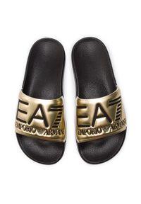 Złote klapki EA7 Emporio Armani na co dzień, casualowe