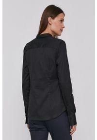 Mos Mosh - Koszula 131700. Kolor: czarny. Materiał: bawełna, poliamid, tkanina. Długość rękawa: długi rękaw. Długość: długie. Wzór: gładki