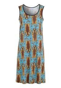 Cellbes Koszula nocna we wzory zamglony niebieski female ze wzorem/niebieski 34/36. Kolor: niebieski. Wzór: nadruk #1