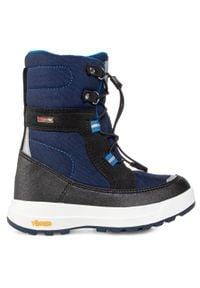 Reima - Śniegowce REIMA - Laplander 569351F 6980. Kolor: niebieski. Materiał: skóra ekologiczna, materiał. Szerokość cholewki: normalna