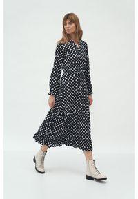 Sukienka Nife w kropki, maxi