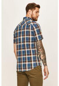 Niebieska koszula Tom Tailor Denim button down, krótka, casualowa, z krótkim rękawem