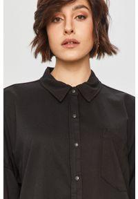 Czarna koszula Answear Lab wakacyjna, na co dzień