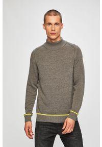 Szary sweter Blend na co dzień, casualowy, z golfem