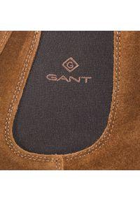 Brązowe buty zimowe GANT casualowe, na co dzień, z cholewką