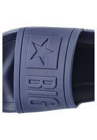 Big-Star - Klapki BIG STAR DD174688 SS 20 Granat. Okazja: do pracy, na co dzień, na spacer, na plażę. Materiał: jeans. Wzór: napisy. Styl: wakacyjny, casual #7