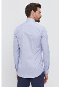 Emanuel Berg - Koszula bawełniana. Typ kołnierza: kołnierzyk włoski. Kolor: niebieski. Materiał: bawełna. Długość rękawa: długi rękaw. Długość: długie