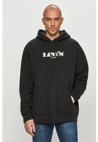 Levi's® - Levi's - Bluza bawełniana. Okazja: na spotkanie biznesowe. Kolor: czarny. Materiał: bawełna. Wzór: nadruk. Styl: biznesowy
