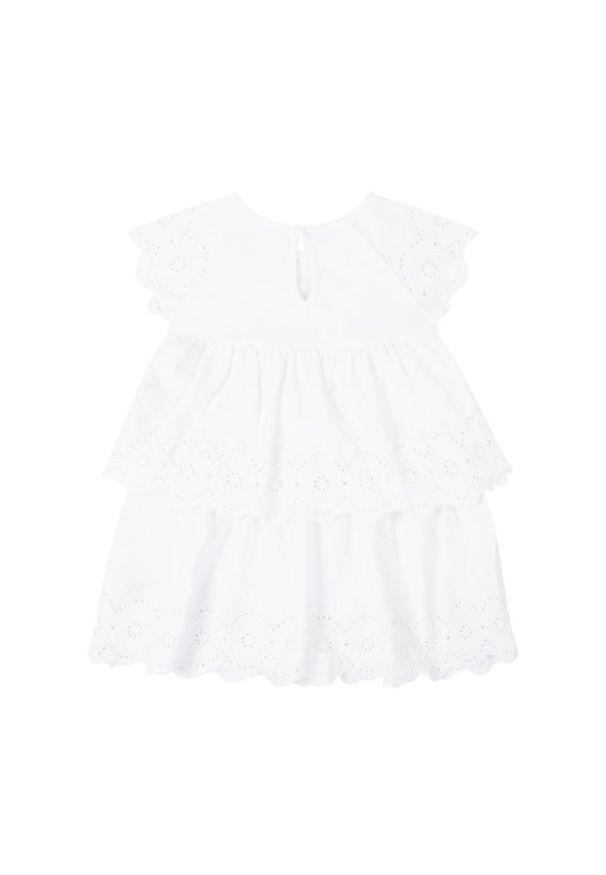 Biała sukienka Mayoral elegancka