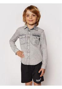 Calvin Klein Jeans Koszula Cloud Washed Shirt IB0IB00708 Szary Regular Fit. Kolor: szary