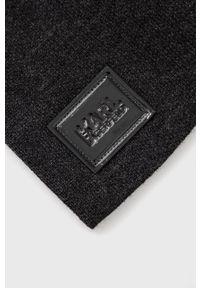 Karl Lagerfeld - Czapka wełniana. Kolor: szary. Materiał: wełna