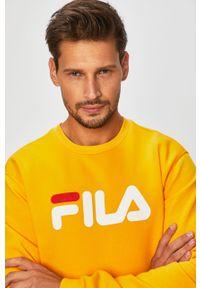 Żółta bluza nierozpinana Fila bez kaptura, na co dzień, casualowa, z nadrukiem