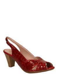 Pitillos - sandały pitillos 1270. Kolor: czerwony. Materiał: skóra. Sezon: lato