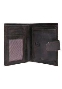 Brązowy portfel TOP SECRET w kolorowe wzory