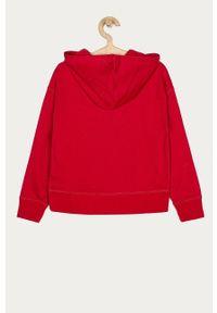Czerwona bluza GAP z kapturem, z nadrukiem
