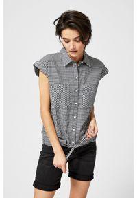 Koszula MOODO bez rękawów, w kratkę