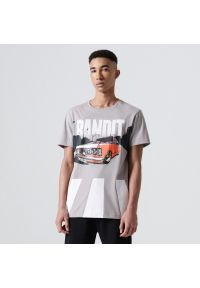 Cropp - Koszulka z nadrukiem - Jasny szary. Kolor: szary. Wzór: nadruk