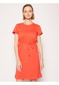Pomarańczowa sukienka TOMMY HILFIGER casualowa, na co dzień, prosta