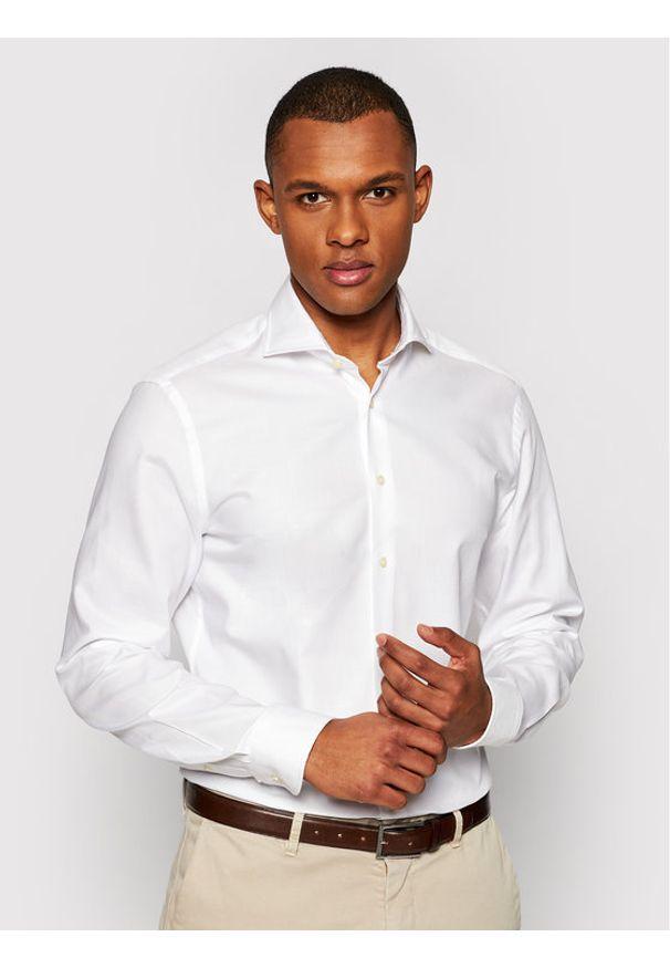 Baldessarini Koszula Henry B3 10003/000/4944 Biały Tailored Fit. Kolor: biały