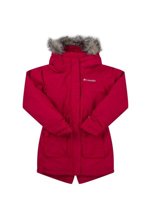 Czerwona kurtka zimowa columbia