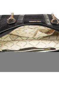 Czarna torebka klasyczna Monnari na ramię, zdobiona, z aplikacjami