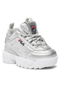 Fila Sneakersy Disruptor F 1011077.3VW Srebrny. Kolor: srebrny
