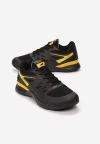 Born2be - Czarno-Żółte Buty Sportowe Tonisha. Okazja: na co dzień, na spacer. Nosek buta: okrągły. Zapięcie: sznurówki. Kolor: czarny. Wzór: nadruk. Materiał: materiał. Obcas: na obcasie. Wysokość obcasa: niski. Sport: fitness, turystyka piesza