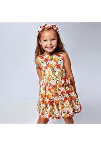 Mayoral Sukienka elegancka 3929 Kolorowy Regular Fit. Wzór: kolorowy. Styl: elegancki