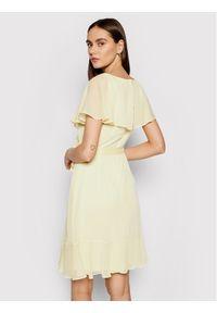 DKNY Sukienka codzienna DD1BI436 Żółty Regular Fit. Okazja: na co dzień. Kolor: żółty. Typ sukienki: proste. Styl: casual