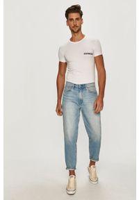 Emporio Armani Underwear - Emporio Armani - T-shirt. Kolor: biały. Materiał: dzianina. Wzór: gładki
