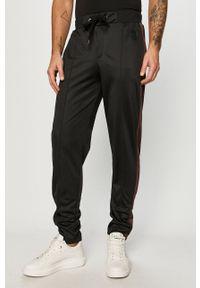 Czarne spodnie dresowe Trussardi Jeans z aplikacjami