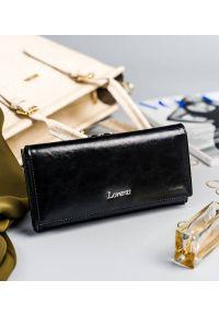 LORENTI - Portfel damski czarny Lorenti 72031-BPR-1349 BLACK. Kolor: czarny. Materiał: skóra