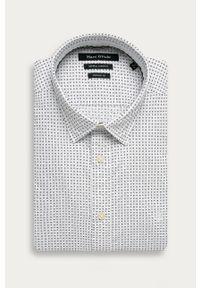 Biała koszula Marc O'Polo na co dzień, długa