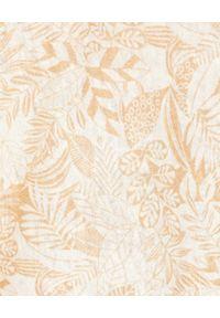 HEMISPHERE - Lniana bluzka w kwiaty. Kolor: beżowy. Materiał: len. Wzór: kwiaty. Sezon: wiosna, lato