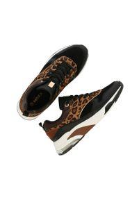 Czarne buty sportowe MEXX na średnim obcasie, z cholewką, na obcasie