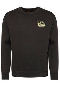 Lee Bluza Logo L80BTJ01 Czarny Regular Fit. Kolor: czarny