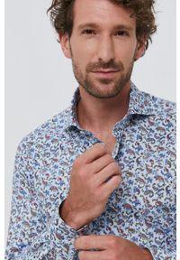 Emanuel Berg - Koszula. Typ kołnierza: kołnierzyk włoski. Materiał: tkanina