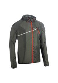 EVADICT - Kurtka do biegania w terenie wiatrówka męska Evadict Trail. Kolor: zielony, brązowy, wielokolorowy. Materiał: poliester, materiał, elastan