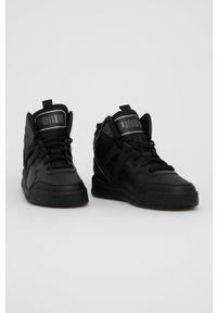 Puma - Buty Backcourt Mid. Nosek buta: okrągły. Zapięcie: sznurówki. Kolor: czarny. Szerokość cholewki: normalna