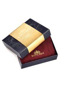 Wittchen - Etui na karty skórzane z herbem małe. Kolor: czerwony. Materiał: skóra. Wzór: aplikacja