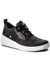 CATerpillar - Sneakersy CATERPILLAR - Glint Canvas P310308 Black. Kolor: czarny. Materiał: skóra, lakier, materiał. Szerokość cholewki: normalna. Obcas: na płaskiej podeszwie