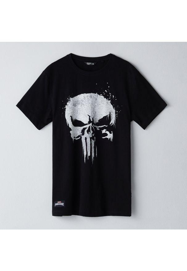 Czarny t-shirt Cropp