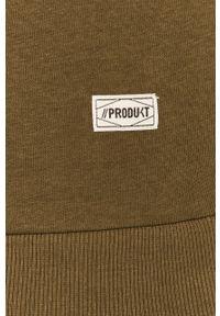 Oliwkowa bluza nierozpinana PRODUKT by Jack & Jones z okrągłym kołnierzem, na co dzień