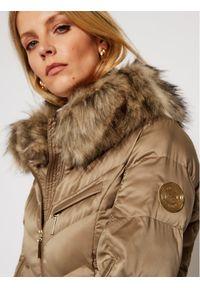 Brązowa kurtka puchowa Elisabetta Franchi