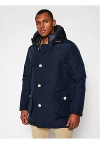 Niebieska kurtka zimowa Woolrich